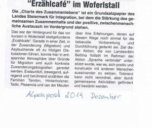 Erzählcafe Alpenpost 2014